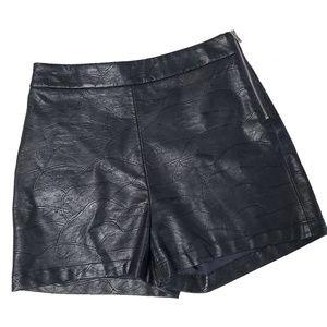 NWOT Zara - Basic Collection Faux Leather Shorts